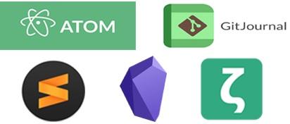 Programas y apps para tomar notas 2021 que soportan Markdown