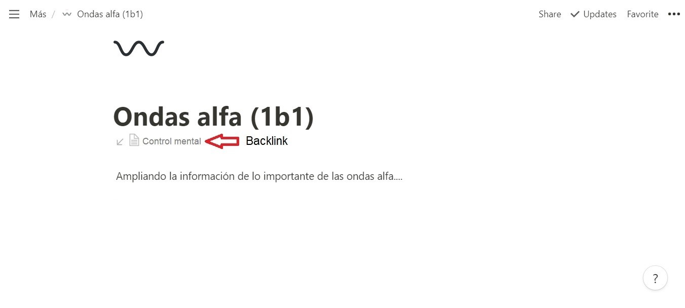 Backlinks en Notion