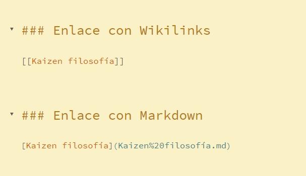 Enlace Wikilinks y enlace Markdown - Mejores editores 2021