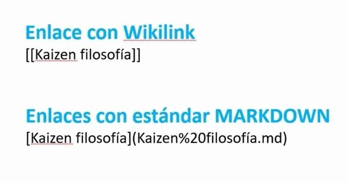 Enlace Wikilink y enlace Markdown