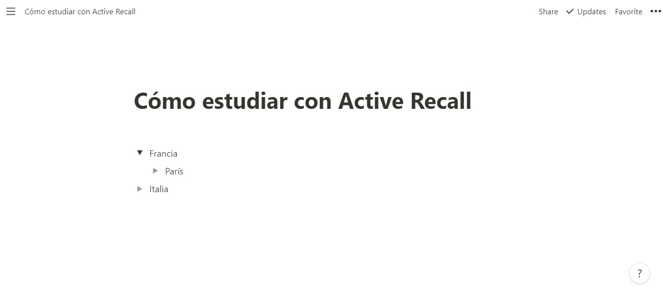 Estudiar con Active Recall en Notion
