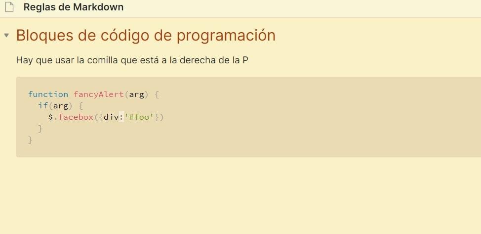 bloque de código de programación - Vista previsualización