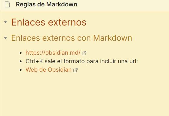 Enlaces externos con Markdown
