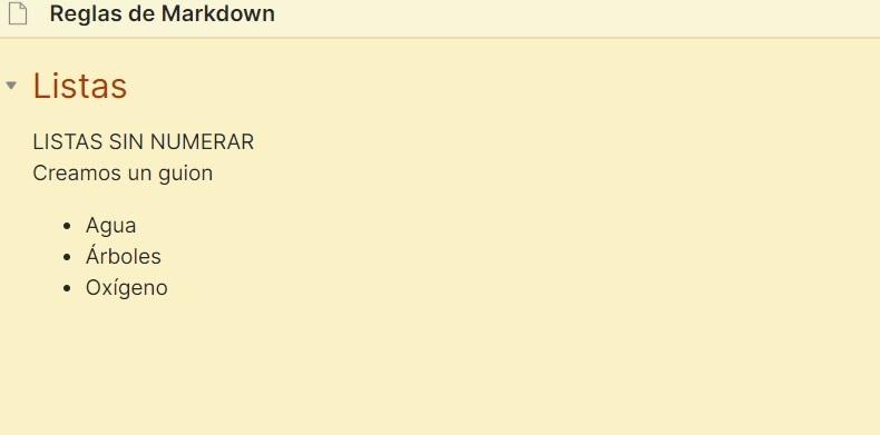 Listas sin numerar - Markdown tutorial