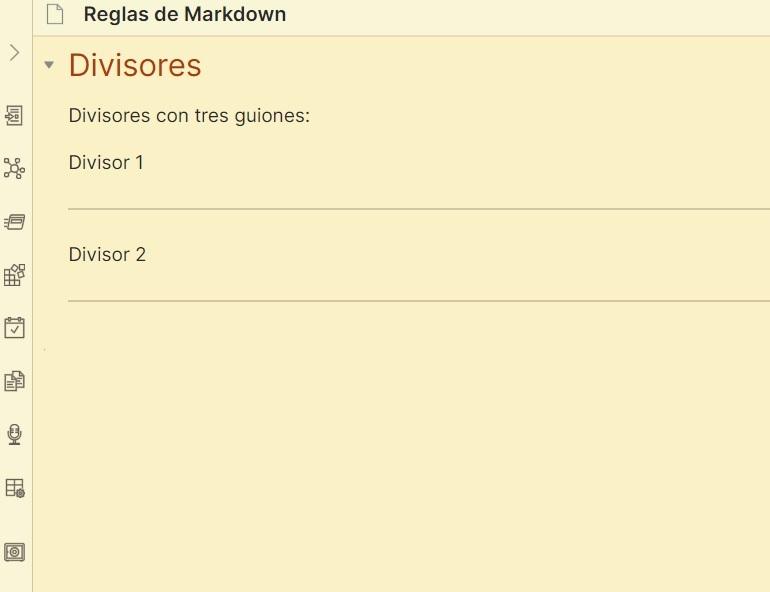 Tutorial de Markdown - Divisores