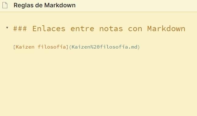 Enlaces internos con Markdown