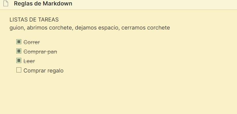 Lista de tareas - Markdown tutorial completo